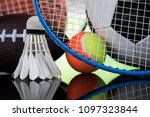 sport equipment  soccer tennis... | Shutterstock . vector #1097323844
