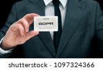 Small photo of Civil servant shows card with GDPR sign. Conception of personal data protection