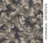 camouflage pattern background... | Shutterstock .eps vector #1097325176