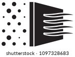 micro clean air filtration icon ... | Shutterstock .eps vector #1097328683