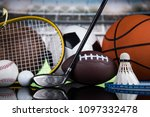 sport equipment and balls | Shutterstock . vector #1097332478