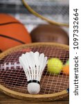 sport equipment  soccer tennis... | Shutterstock . vector #1097332664