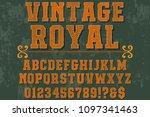 vintage font typeface... | Shutterstock .eps vector #1097341463