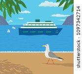 nautical poster concept.... | Shutterstock . vector #1097342714