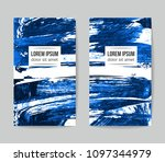 set of vector business card... | Shutterstock .eps vector #1097344979