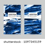 set of vector business card... | Shutterstock .eps vector #1097345159