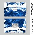set of vector business card... | Shutterstock .eps vector #1097345180