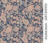 paisley vector seamless pattern.... | Shutterstock .eps vector #1097345954