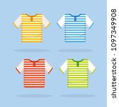 t shirt template  model with... | Shutterstock .eps vector #1097349908