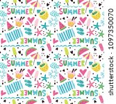summer pattern with cocktails ... | Shutterstock .eps vector #1097350070