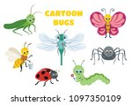 vector cute insect collection.... | Shutterstock .eps vector #1097350109