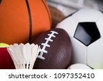 assorted sports equipment | Shutterstock . vector #1097352410