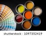 paint cans color palette | Shutterstock . vector #1097352419