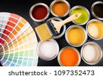 paint can with a paintbrush | Shutterstock . vector #1097352473