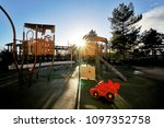 empty children kid playground... | Shutterstock . vector #1097352758