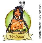 thanksgiving day logo design...   Shutterstock .eps vector #109735454
