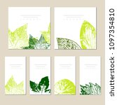 collection of vector template... | Shutterstock .eps vector #1097354810