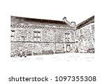 edinburgh castle is a historic... | Shutterstock .eps vector #1097355308