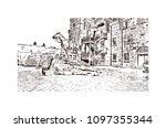 edinburgh castle is a historic... | Shutterstock .eps vector #1097355344