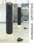 punchbag in a fitness hall | Shutterstock . vector #1097357618