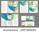 set of color abstract brochure... | Shutterstock .eps vector #1097360039