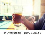 people  drinks  alcohol and...   Shutterstock . vector #1097360159