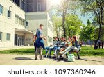 education  high school and... | Shutterstock . vector #1097360246