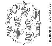cactus plant pattern | Shutterstock .eps vector #1097368703