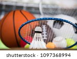 assorted sports equipment | Shutterstock . vector #1097368994