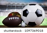 sport equipment and balls ... | Shutterstock . vector #1097369018