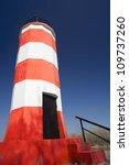 lighthouse on the river ob in... | Shutterstock . vector #109737260