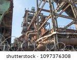 rusty industrial steel... | Shutterstock . vector #1097376308