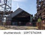 rusty industrial steel... | Shutterstock . vector #1097376344
