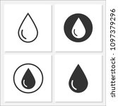 water icon set vector design | Shutterstock .eps vector #1097379296