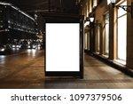 close up billboard mockup in...   Shutterstock . vector #1097379506