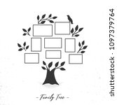 family tree with photo frames.... | Shutterstock .eps vector #1097379764