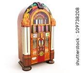 Retro Vintage Jukebox On A...
