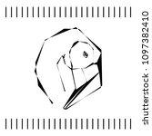 sketch of a flamingo head in... | Shutterstock .eps vector #1097382410
