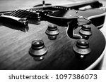 hollow body jazz guitar | Shutterstock . vector #1097386073