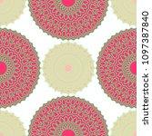 ethnic seamless pattern.... | Shutterstock .eps vector #1097387840