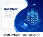 isometric database network... | Shutterstock .eps vector #1097389070