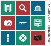 detail icon. collection of 9... | Shutterstock .eps vector #1097389403
