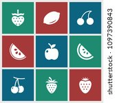 juicy icon. collection of 9... | Shutterstock .eps vector #1097390843