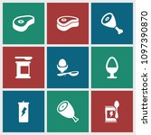 protein icon. collection of 9... | Shutterstock .eps vector #1097390870