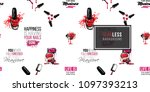 manicure vector seamless... | Shutterstock .eps vector #1097393213