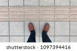 people standing on the stone... | Shutterstock . vector #1097394416