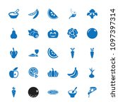 vegetarian icon. collection of... | Shutterstock .eps vector #1097397314
