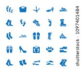 foot icon. collection of 25... | Shutterstock .eps vector #1097401484