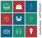 delicious icon. collection of 9 ... | Shutterstock .eps vector #1097402429