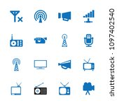 broadcast icon. collection of... | Shutterstock .eps vector #1097402540